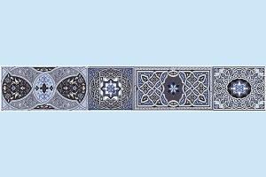 Плитка декоративная Атем - Aladdin Pattern BL