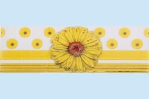 Плитка декоративная фриз Атем - Vitel Gerbera YL