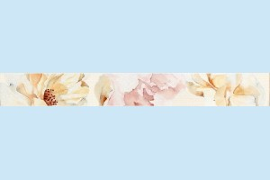 Плитка декортивная фриз Cersanit - Beata цветок