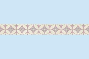 Плитка декортивная фриз Cersanit - Beata modern