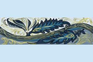 Плитка декоративная Golden Tile - Александрия В13331