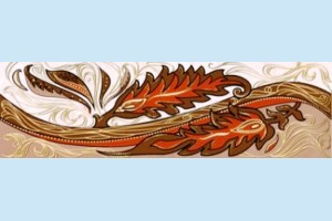 Плитка декоративная Golden Tile - Александрия В11331