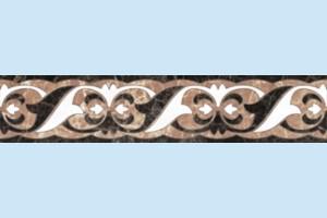 Плитка декоративная Golden Tile - Lorenzo Intarsia H41341