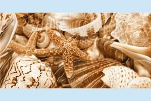 Плитка декоративная Golden Tile - Sea Breeze Shells Е11411