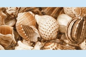 Плитка декоративная Golden Tile - Sea Breeze Shells Е11421