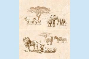 Плитка декоративная Intercerama - Safari П 73 031