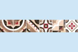 Плитка декоративная Керамин - Дюна 1 фриз тип 2