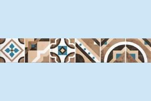 Плитка декоративная Керамин - Дюна 2 фриз тип 2