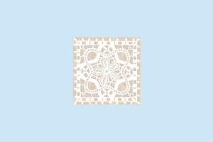Плитка декоративная Керамин - Бордюр Органза 4 98×98